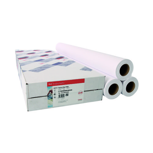 Canon Coated Premium Inkjet Paper Rolls 610mmx45m (Pack of 3) 97003451