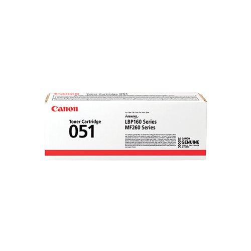 Canon CRG 051 Black Toner Cartridge (1 700 Page Capacity) 2168C002