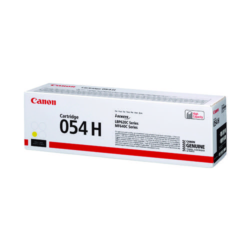 Canon 054 High Yield Laser Toner Cartridge Yellow 3025C002