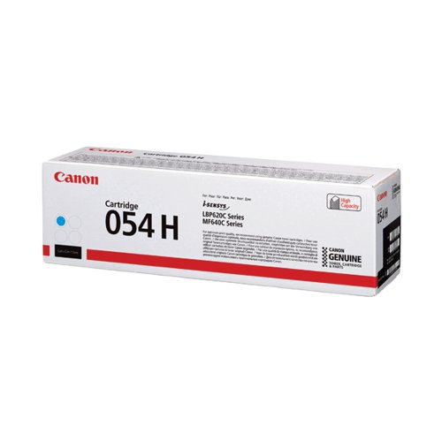 Canon 054 High Yield Laser Toner Cartridge Cyan 3027C002