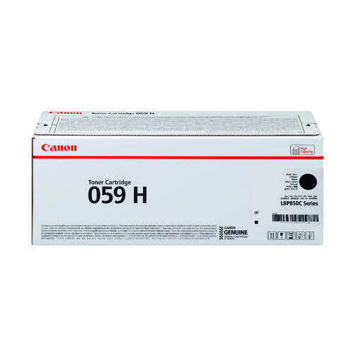 Canon 059H Black High Yield Laser Toner Cartridge 3627C001