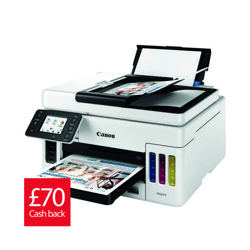 Canon Maxify GX6050 3In1 Refillable Ink Tank Inkjet Printer 4470C008AA