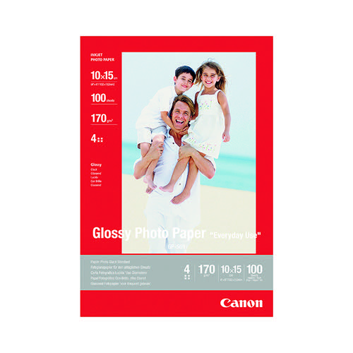 Canon Glossy Photo Paper 10 x 15cm 170gsm (Pack of 100) 0775B003