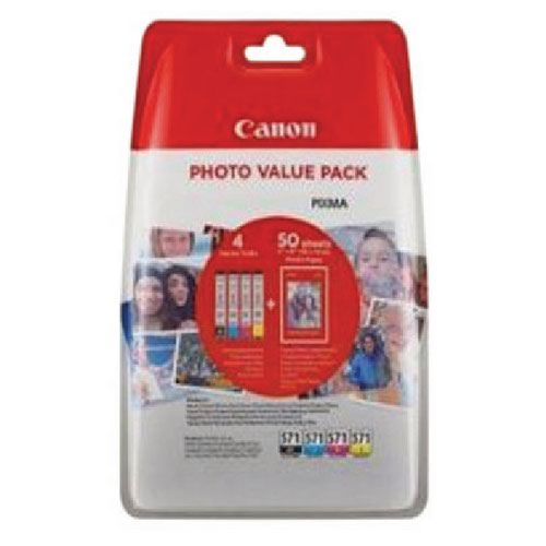 Canon CLI-571 CMYK Inkjet Cartridge Value Pack 0386C006