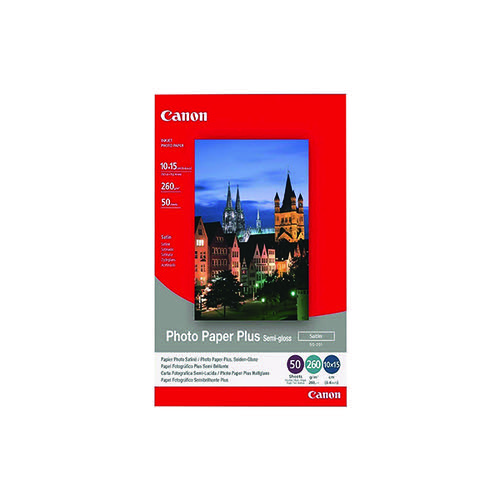 Canon SG-201 Photo Paper Plus 4 x 6in Semi-Gloss (Pack of 50) 1686B015