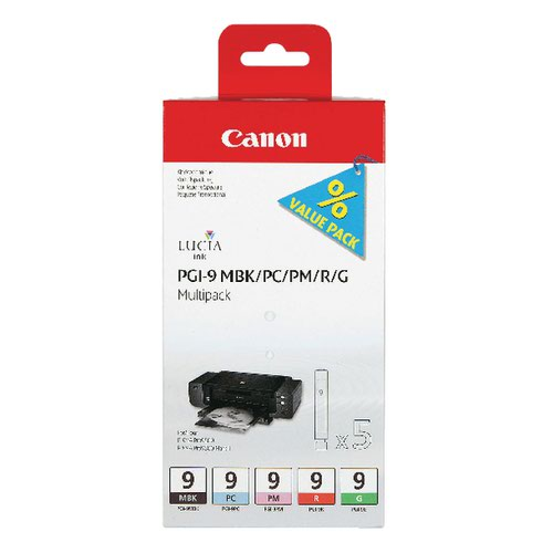 Canon PGI-9 MBK/PC/PM/R/G Ink Cartridge 1033B011