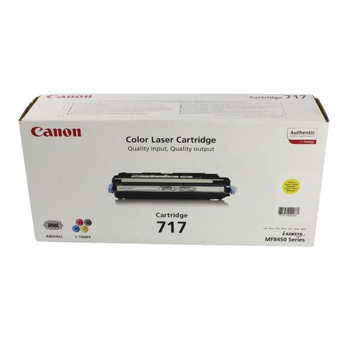 Canon 717Y Yellow Laser Toner Cartridge 2575B002