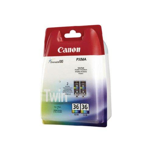Canon CLI-36 CMY Inkjet Cartridges (Pack of 2) 1511B018