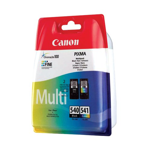 Canon PG-540/Cl-541 CMYK Multi Pack Ink Cartridges 5225B007 by Canon, CO57261