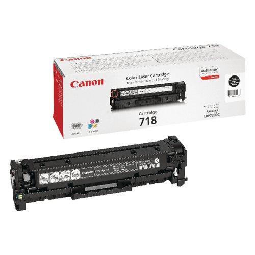 Canon 718VP Black Toner Cartridges (Pack of 2) 2662B005