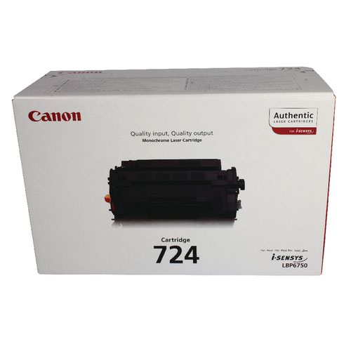 Canon 724 Black Toner Cartridge 3482B002AA
