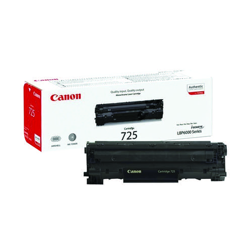 Canon 725 Black Toner Cartridge 3484B002