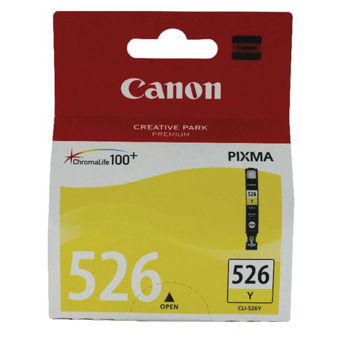 Canon CLI-526Y Yellow Ink Cartridge 4543B001