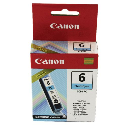 Canon BCI-6PC Cyan Inkjet Cartridge 4710A002