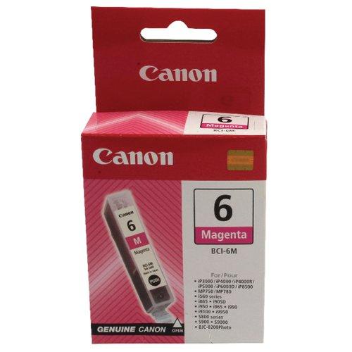 Canon BCI-6M Magenta Inkjet Cartridge 4708A002