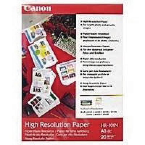 Canon High Resolution A3 Inkjet Paper 106gsm (Pack of 100) 1033A005