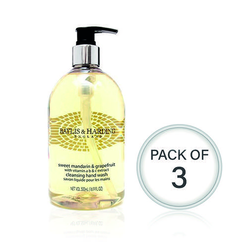 Baylis & Harding Mandarin/Grapefruit Wash 500ml (Pack Of 3) 604242
