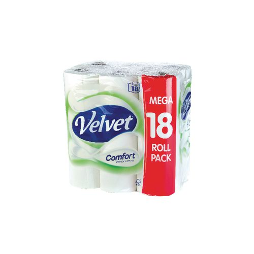 Velvet Comfort Toilet Roll 2 Ply (Pack of 18) KSCATV18