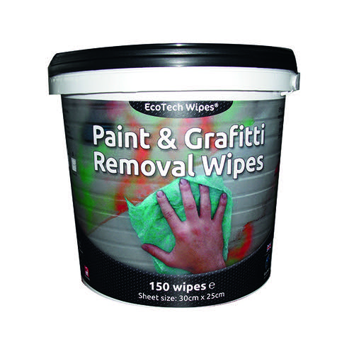 EcoTech Paint and Graffiti Wipes (Pack of 150) EBPG150