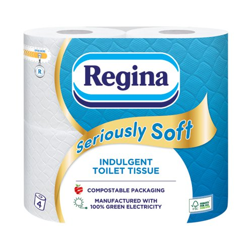 Regina Seriously Soft 3Ply Toilet Tissue 4 Roll White (Pack 5) 1102178