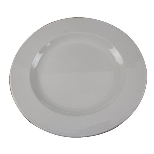 White 250mm Porcelain Plate (Pack of 6)