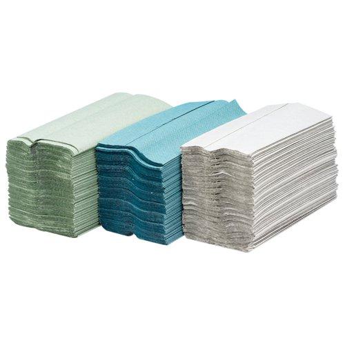 Maxima Green C-Fold Hand Towel 1-Ply Green Pk92x15 KMAX5053