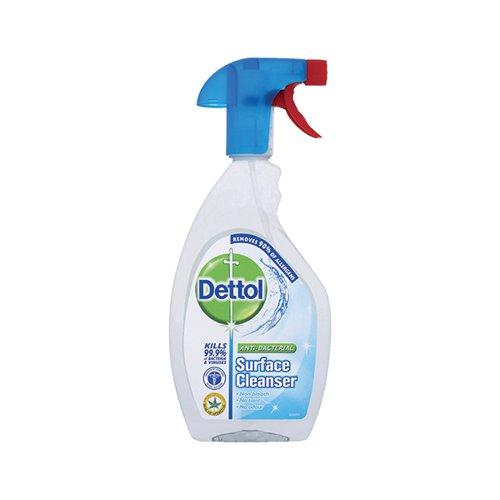 Dettol Antibacterial Surface Sanitser Spray 500ml Bottle Kills 99.9 Percent Bacteria