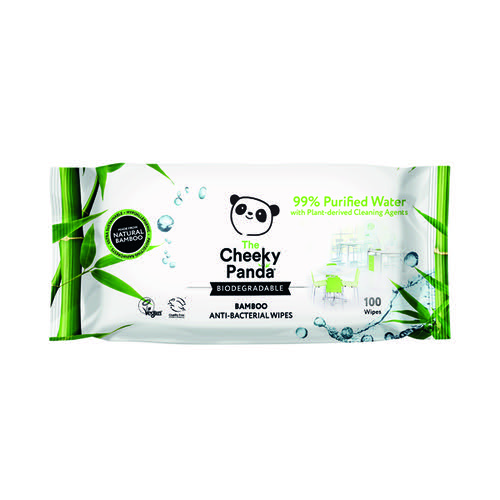 Cheeky Panda Biodegradable Multipurpose Wipes 100 (Pack of 6) 706117
