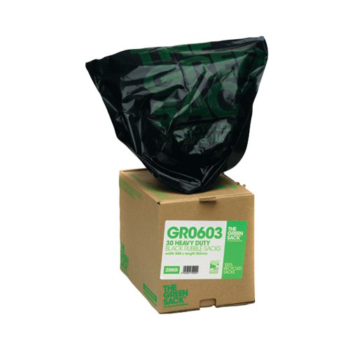 The Green Sack Rubble Sack in Dispenser Black (Pack of 30) VHP GR0603