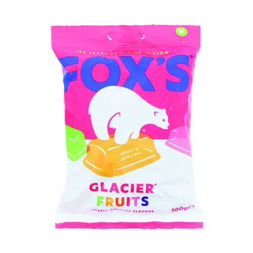 Foxs Glacier Fruits 200g (Contains six mouth watering flavours) 0401003