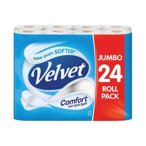 Velvet Comfort Toilet Roll 2Ply White (Pack Of 24) 1102049