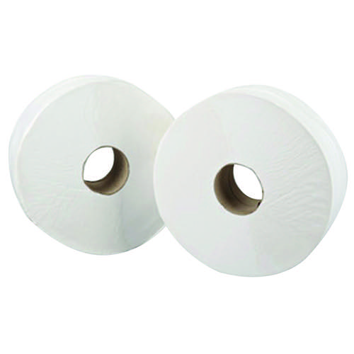 Maxima Mini Jumbo Office Toilet Rolls 2 Ply White (Pack of 12)