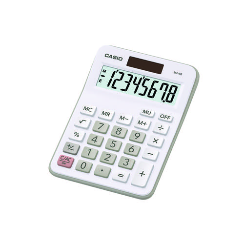 Casio MX-8B-WE Desktop Calculator CS16415