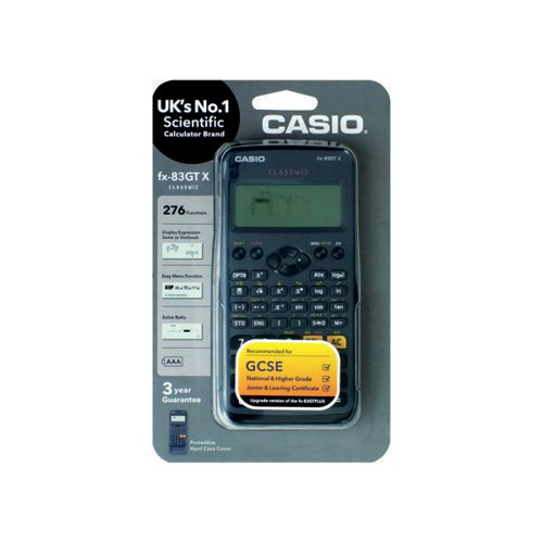Casio Scientific Calculator FX-83GTXBLACK