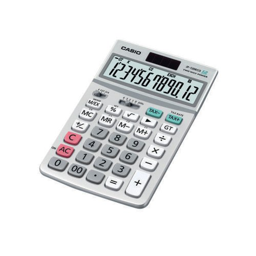 Casio 12-Digit Display Desktop Calculator JF-120ECO