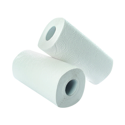 2Work Kitchen Roll (Pack of 2) x12 White CT73665 CT73665