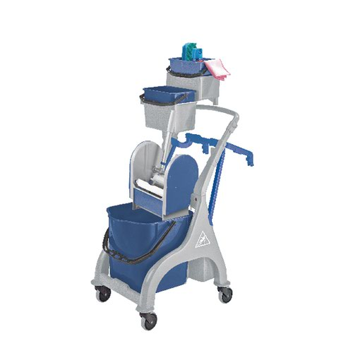 Kentucky Mopping Quick Response Trolley (Includes bucket holders mop handle and hooks) MWVK5B01L
