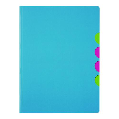 Durable Pagna 5-part Folder A4 Light Blue (Pack of 10) 4180313