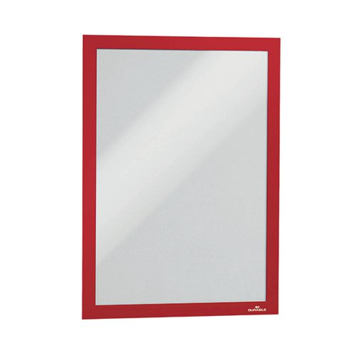 Durable Duraframe Self Adhesive Frame A4 Red (Pack of 2) 487203