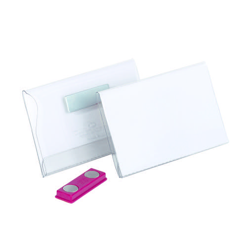 Durable Magnetic Name Badge 40x75mm Transparent (Pack of 25) 811619 - DB81090