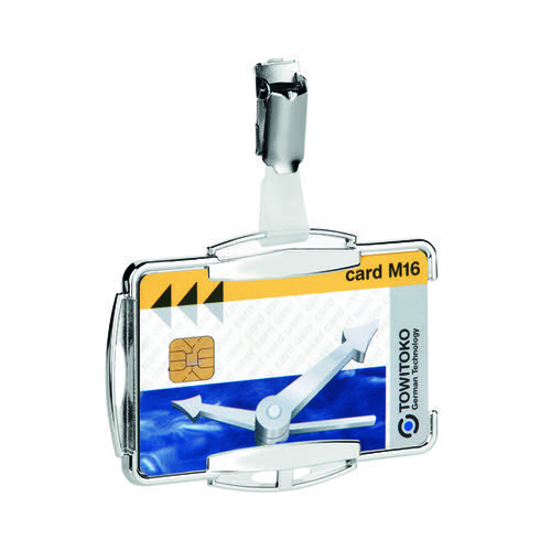 Durable RFID Secure Card Holder Mono Silver (Pack of 10) 8901