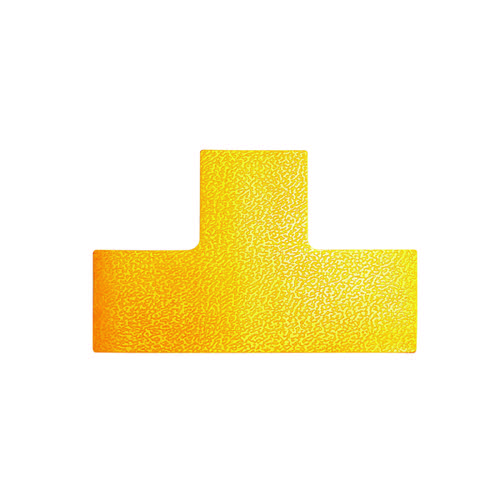 Durable Floor Marking Shape T, Yellow (Pack of 10) 170004