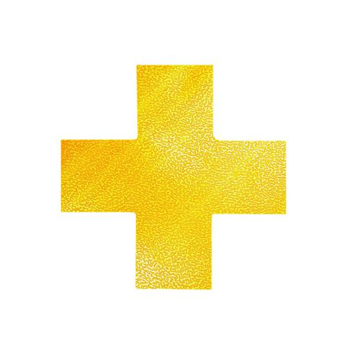 Durable Floor Marking Shape Cross Yellow (Pack of 10) 170104
