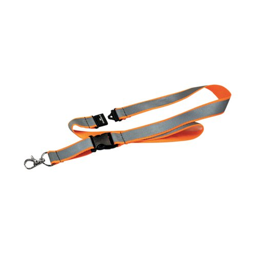 Durable Textile Lanyard Reflective Orange 869209
