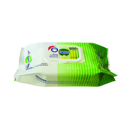 Detox Anti Bacterial Hand and Surface Wet Wipes Pine (Pack of 120)