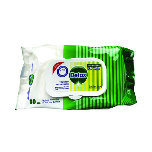 Detox Antibacterial Wipes Pine (Pack of 80) Detox 80 Pine
