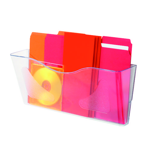 Antibacterial Clear Plastic Wall Pocket A4 for Office Filing Literature Holder Landscape by Deflecto SteriTouch
