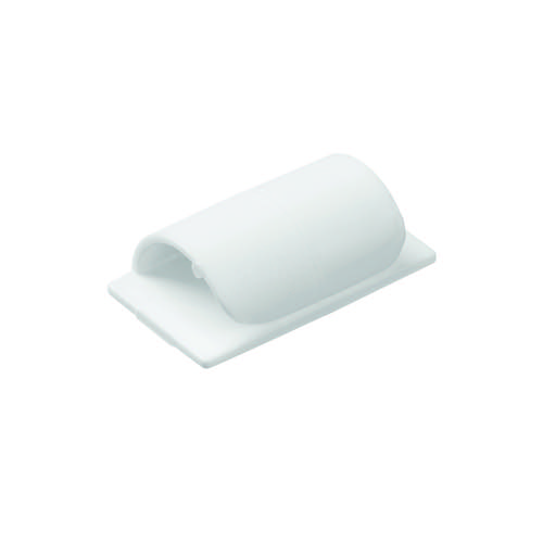 D-Line Cable Clips Self-Adhesive White (Pack of 20) CTC1P20PK