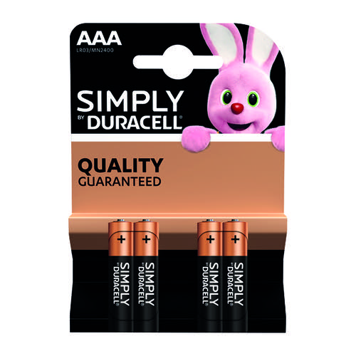 Duracell Simply Battery AAA (Pack of 4) 81235219