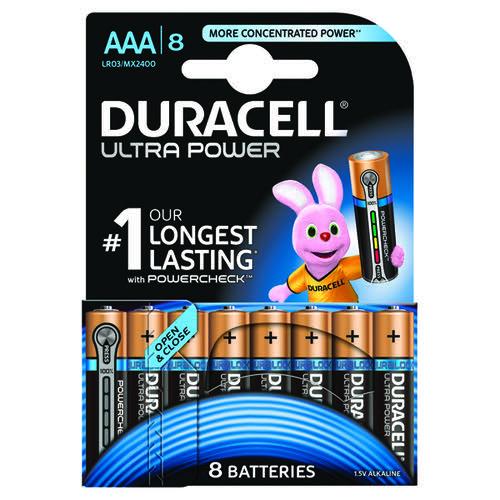 Duracell Ultra Power Alkaline Battery 1.5V AAA MX2400 [Pack 8]